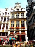 Center of Brussel. Brussels has grown from a 10th-century fortress town founded by a descendant of Charlemagne to a sizeable city.The city has a population of 1 Stock Photography