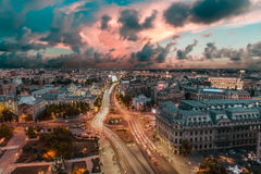 Center of Bucharest at sunset. royalty free stock photo