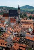 Center of Cesky Krumlov, Czech Republic Stock Images