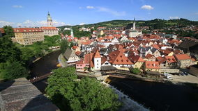 Center of Cesky Krumlov Royalty Free Stock Images
