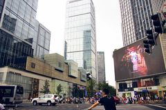 The center of chengdu, sichuan province, China royalty free stock photo