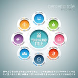 Center Circle Infographic Stock Photography