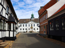 Center of the city of Bogense Funen Denmark. Beautiful travel attraction destination Stock Photo
