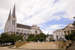 Center of the city of Pau, France Stock Image