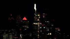 Center City Philadelphia Skyline at Night.  stock video footage