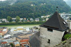 Center of City Salzburg, Austria Royalty Free Stock Photography