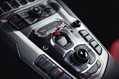 Center console Stock Images