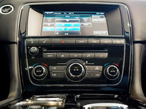 Center console of a luxury car Stock Image