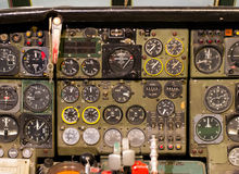 Center console and throttles in airplane Royalty Free Stock Photography