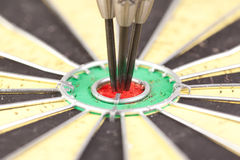 Center of darts board Royalty Free Stock Image