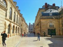 the center of the dijon city, dijon old town, France Royalty Free Stock Image