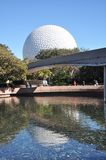 center disney epcotmonorail Royaltyfri Fotografi