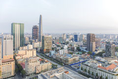 Center district 1 of Ho Chi Minh city. Ho Chi Minh City has the most dynamic economy in Vietnam Royalty Free Stock Images