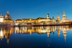 The center of Dresden at dawn Stock Photo