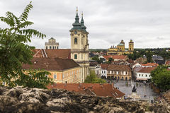 Center of Eger royalty free stock photos