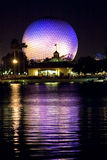 center epcotnatt Arkivbild
