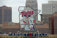 Center Field Sign at Target Field Stock Image