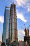 center finansiellt shanghai torn Arkivbilder