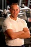 center fitness man Στοκ φωτογραφία με δικαίωμα ελεύθερης χρήσης