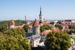 The center fo Tallin stock image