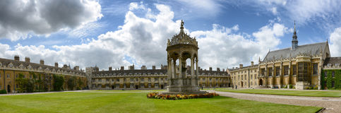Center Fountain of Great Court of Trinity College Royalty Free Stock Photos