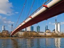 Center of Frankfurt. Bridge over Main river in the center of Frankfurt Royalty Free Stock Images