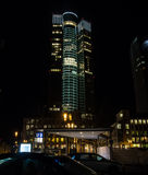 In the center of Frankfurt, Germany, at night Stock Photos