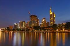 Center of Frankfurt am Main at night Royalty Free Stock Images