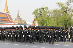 Center full-dress procession (The Royal Field). An unidentified name Soldier : The full-dress procession rehearsal for the royal cremation of Her Royal Highness Royalty Free Stock Photos