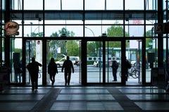 center galleriasilhouette Royaltyfri Bild