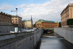 center gammala stockholm Royaltyfri Fotografi