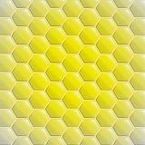Center gold yellow alighted honeycomb vector Royalty Free Stock Image