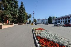 Center of Gus-Khrustalny city Stock Photos