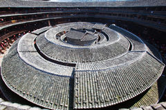 The center of Hakka earth building 2 royalty free stock photo