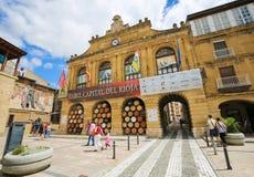 Center of Haro in La Rioja, Spain. Plaza de la Paz in the center of Haro, Capital of La Rioja wine region, Spain royalty free stock images