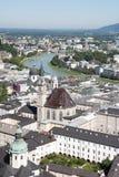 center historisk panorama- salzburg sikt royaltyfri fotografi