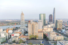 Center of Ho Chi Minh city. Ho Chi Minh City has the most dynamic economy in Vietnam Stock Photos