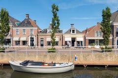 Center of IJlst in Friesland, Netherlands. Stock Images
