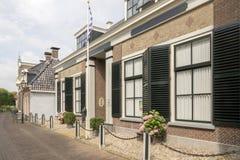 Center of IJlst in Friesland, Netherlands. Royalty Free Stock Images