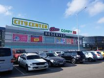 center inre galleriashopping Arkivbilder