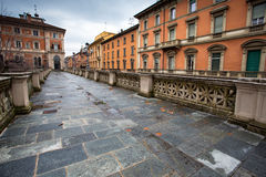Center of the Italian city of Bologna. View of the old buildings Royalty Free Stock Image