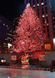 center jul för beröm som tänder den rockefeller treen Royaltyfria Foton