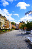 Center of Karlsbad (Karlovy Vary). Houses in the center of Karlsbad (Karlovy Vary), Czech republic Royalty Free Stock Image
