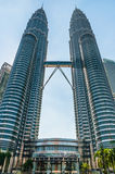 Center KLCC. View from down to up KLCC in the morning in the middle or centre stock images