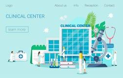 center kliniskt royaltyfri illustrationer