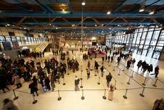 center korridor paris pompidou Royaltyfria Bilder