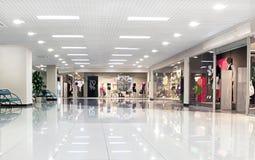 center korridorgalleria Arkivbild