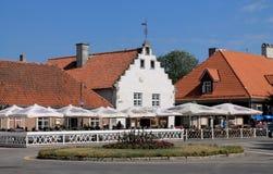 The center of Kuressaare Royalty Free Stock Photo