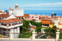Center of La Orotava town, Tenerife Island, Spain Royalty Free Stock Image