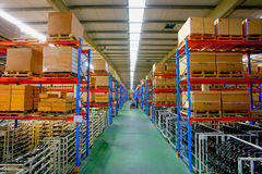 center lagring för changlogistikminsheng Arkivfoto